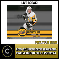 2019-20 UPPER DECK SERIES 1 HOCKEY 12 BOX FULL CASE BREAK #H578 - PICK YOUR TEAM