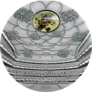 Palau 2015 10$ Famous Opera II Metropolitan 2 Oz Proof Silver Coin