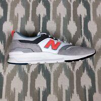 New Balance 997H Men's Sneakers Cloud Gray. Orange Shoes CM997HAG Size 11