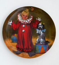 """Porcelain Plate""""Tommy The Clown"""" By Reco Int. Edwin M.Kno 00004000 wless 1982-Signed"""