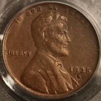 1935 S Lincoln Cent Wheat Penny 1c PCGS AU Extra Fine Uncirculated Coin - P2266