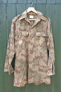 SOUTH AFRICAN NUTRIA POLICE S.A.P CAMOUFLAGE LONG SLEEVED SHIRT - MEDIUM