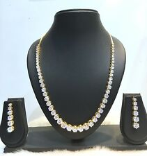 New Indian Bollywood Ethnic CZ Gold Plated Fashion Wedding Jewelry Necklace Set