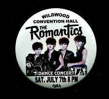 """The Romantics 1984 Wildwood Convention Hall 3"""" Pin Back Button Thouse 2018"""
