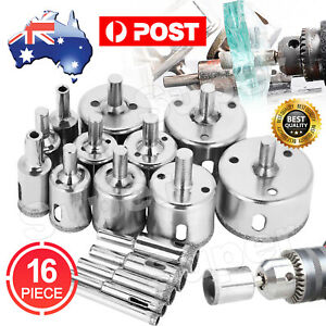 16Pcs Diamond Hole Saw Drill Bit Set Holes Cutter Saw Tile Glass Marble Ceramic