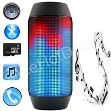 Portable PULSE LED Light Stereo Wireless Bluetooth Speaker With FM For Party