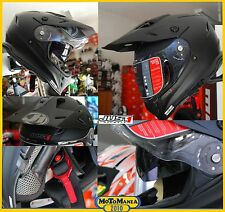 CASCO ENDURO MOTARD JUST1 J34 DOPPIA VISIERA SOLID Black Matt TG XL 61/62