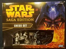 Star Wars Saga Edition Chess Set Board Game Complete set with ALL PIECES