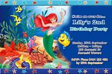 Little Mermaid Personalised Birthday Party Invitations - You PRINT & SAVE'