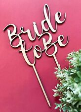 """Personalised """"Bride to be"""" Bridal Shower Cake Toppers  - Wood / Acrylic"""