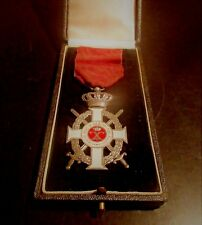 GREEK HELLENIC WWI SILVER ORDER OF KING GEORGE WITH SWORDS MEDAL DECORATION
