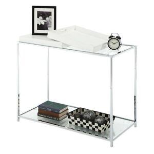 Convenience Concepts Palm Beach Console Table, White - 131399W