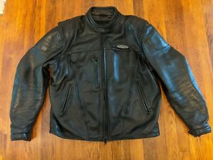 Harley Davidson FXRG Series 1 Armored Leather Motorcycle Jacket 98508-99VM - L