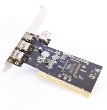 4 Port Firewire IEEE 1394 PCI Controller Card Adapter for Windows Mac OS