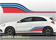 Mercedes Martini 005 side racing stripes vinyl graphics stickers A & B Class