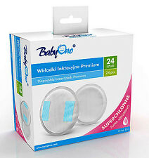 NIPPLE PROTECTOR 24 Pieces BabyOno Cotton Disposable Breast Pads Shields 031