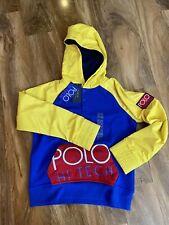 Polo Ralph Lauren Boy's Blue Hi-Tech Hoodie Jumper For 10-12 Years BNWT