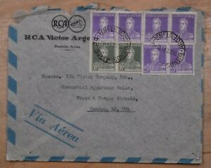 Mayfairstamps Argentina 1934 RCA Victor Advertising Airmail cover to Camden NJ w