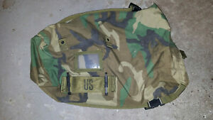 US Army Protective Ensemble Carrying Bag Woodland Straps & Alice Clips butt pack