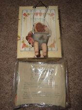 """1992 Miss Martha's Collection Enesco """"Baby In Swing"""" # 421480 Hanging Ornament"""