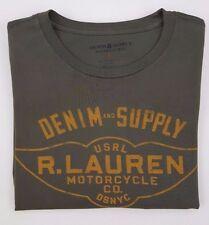 DENIM Supply RALPH Lauren SMALL Tee MENS Green GRAPHIC Print SIZE Cotton OLIVE**