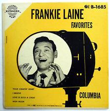 FRANKIE LAINE 45 EP Favorites / Your Cheatin Heart / I Believe VG++ Pop w4304