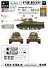 Star Decals 16-004, T-34 model/1943 part 2,T-34 model/1943 30th Guards Tan, 1:16