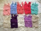 NEW Baby Girls Soft Lace Petti Romper Bodysuit Photo Prop Size 0-6-12-18 months