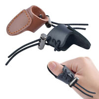 2X Archery Cow Leather Finger Guard Thumb Ring Protector Tab Bow Hunting Target