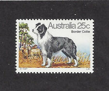 Art Full Body Study Portrait Postage Stamp BORDER COLLIE DOG Australia 1980 MNH