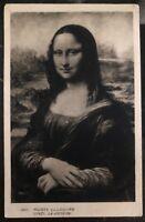 1937 Paris France RPPC Real Picture postcard Cover Louvre Museum Mona Lisa