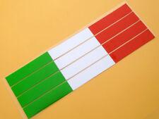 4X Reflective Tank Decal Italian Flag Bar Exhaust Sticker Ducati Benelli Aprilia