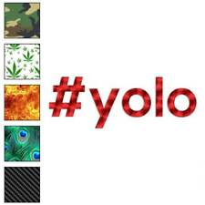 Hashtag Yolo # Decal Sticker Choose Pattern + Size #1824