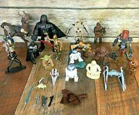 Lot of 19 Star Wars Figures Hasbro Kaadu Boba Fett Luke Darth Vader Yoda Droid