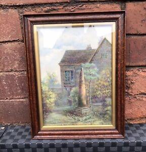 Antique English Oak Picture Frame