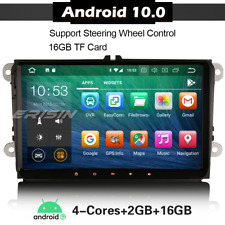 """9"""" Android 10 Car Stereo Sat Nav DAB 4G For VW Golf Passat Caddy T5 Seat Skoda"""
