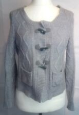 Laura Ashley Cable Wool Blend Cardigan Size 12