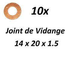 10x JOINT DE VIDANGE 14x20x1.5 CITROËN EVASION (22, U6) 1.9 TD 90ch