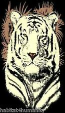 5 X 8 WHITE TIGER HEAD BLACK AFRICAN AFRICA WILDLIFE SAFARI AREA RUG