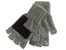 $165 RYAN SEACREST Men's GRAY WHITE FINGERLESS KNIT WARM WINTER GLOVES ONE SIZE