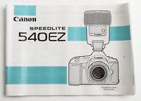 Bedienungsanleitung Canon Speedlite 540 EZ