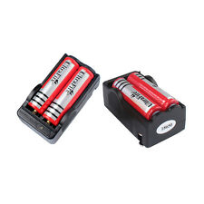 4PCS 3800mAh 3.7V 18650 Battery + 2PCS Dual Charger for Headlamp Flashlight Lamp