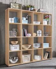 Wilmes: Raumteiler 16 Fächer - Bücherregal Standregal Wohnzimmerregal - Buche
