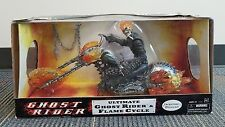 "Hasbro Marvel Ultimate Ghost Rider & Flame Cycle 12"" Figure NIB"