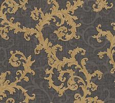 AS Creation Versace Black/Gold Damask Glitter Wallpaper (96231-6)
