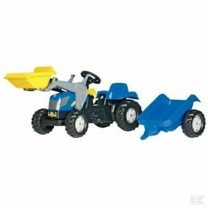 Rolly Kid New Holland T7040 Tractor with Frontloader and Trailer