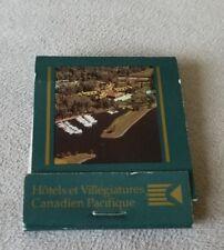 Old Matchbook Montebello Le Chateau Hotels Et Villegiatures Canadien Pacifique