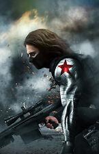 CAPTAIN AMERICA Winter Soldier Original 11x17 Art Print by Scott Harben