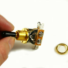 (D20) 3 Way Toggle Switch Pickup Selector Gold w/Black Tip for Electric Guitar