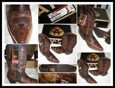 NWT ARIAT Leather Brown Western Cowboy Boots Women Sz 10 B Euro 41.5 UK 7.5 NEW